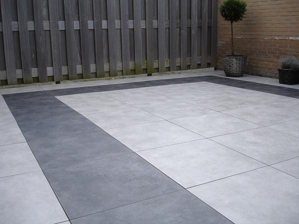 Grijze Tegels Tuin : Quite light paving keramiek voor dak en tuin